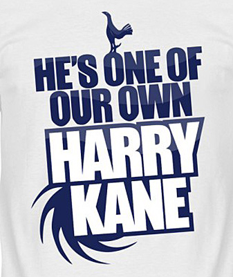 RE-TAKE Harry Kane He's One of our Own Tシャツ ホワイト