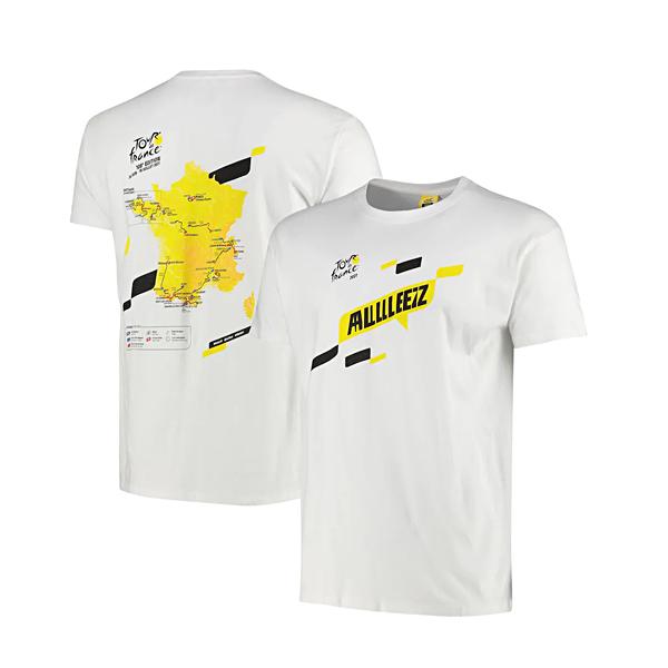 ツール・ド・フランス オフィシャル コースマップTシャツ