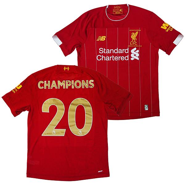 リバプール オフィシャル 19/20 Commemorative チャンピオンシャツ #20 背番号入り