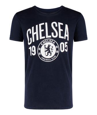 チェルシーオフィシャル 1905 グラフィックTシャツ ネイビー