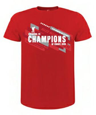 リバプールオフィシャル Champions of Europe Tシャツ