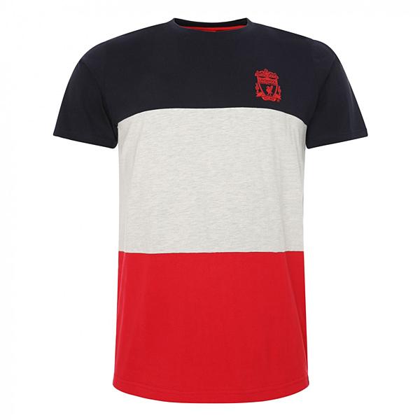 リバプールオフィシャル CREST COLOUR BLOCK Tシャツ