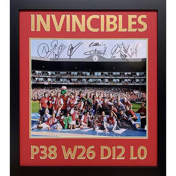 アーセナル 2004 INVINCIBLES シーズン 額入り直筆サイン入りフォト