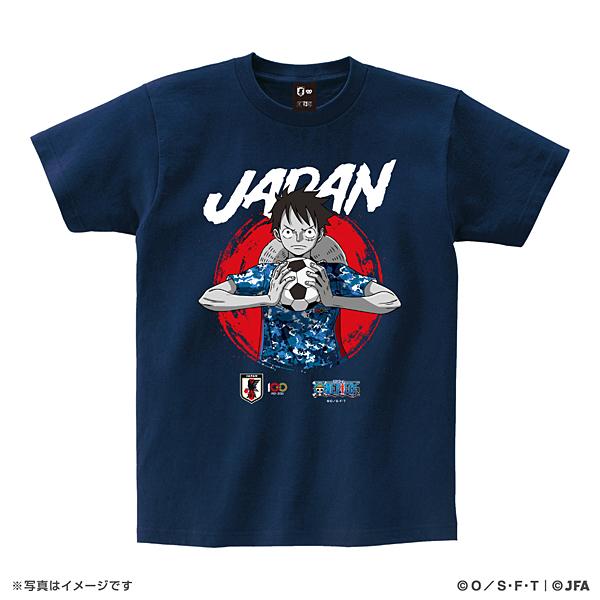ONE PIECE Tシャツ サッカー日本代表Ver.(ルフィ)