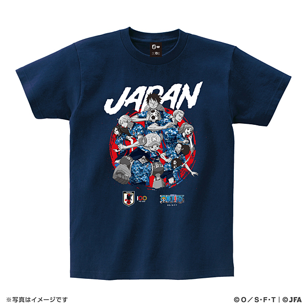 ONE PIECE Tシャツ サッカー日本代表Ver.(集合)