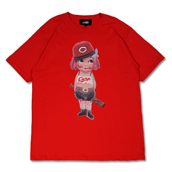 CARP×LAND by MILKBOY CARP GIRL Tシャツ レッド
