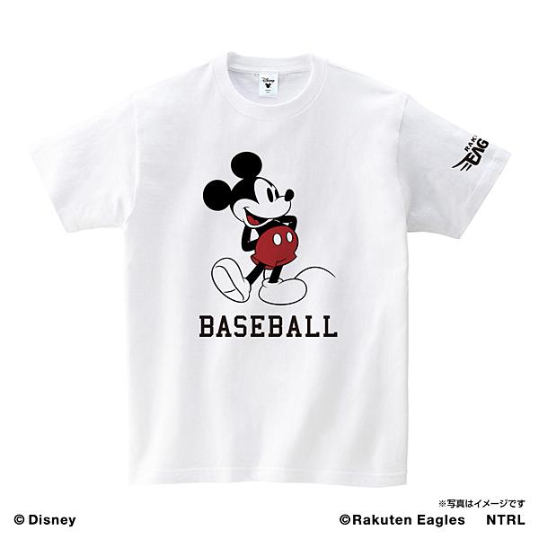 ミッキーマウス(BASEBALL) 楽天イーグルス Tシャツ ホワイト