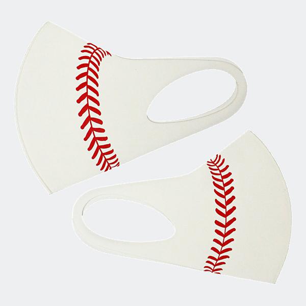 J SPORTS オリジナルマスク ホワイト(野球ボール)