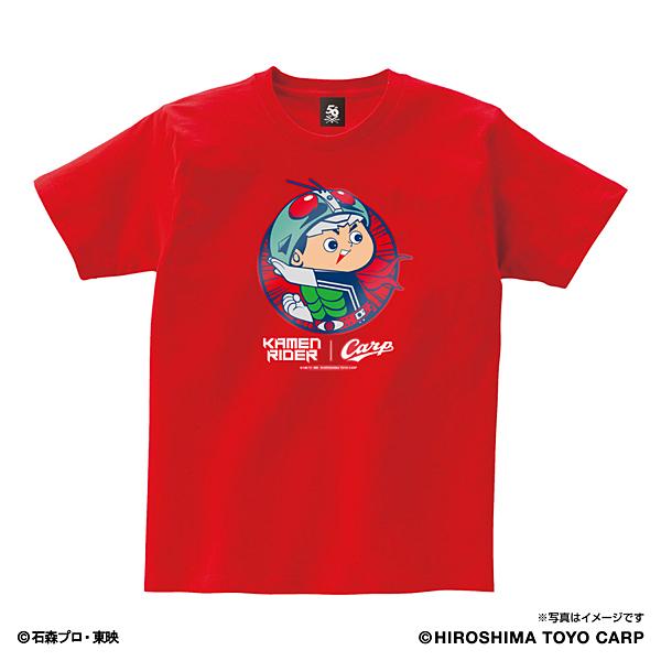 仮面ライダー/広島東洋カープ Tシャツ(変身) アダルト レッド