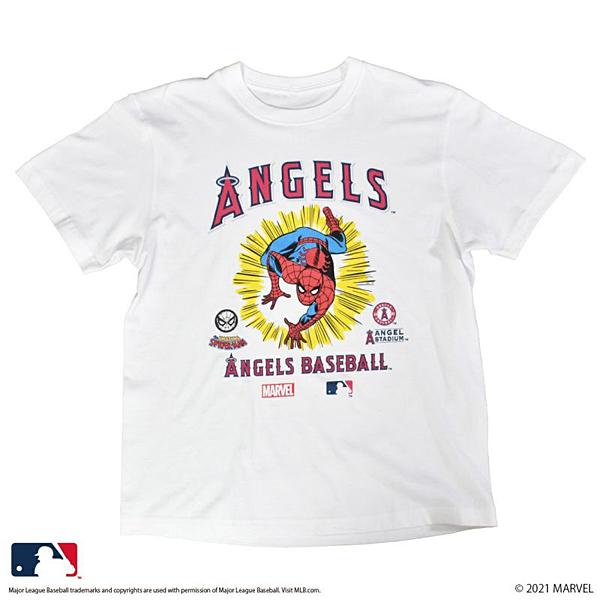 MARVEL / スパイダーマン MLB / ロサンゼルス・エンゼルス Tシャツ