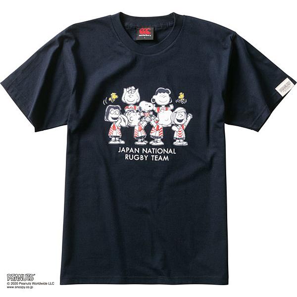 カンタベリー CCCピーナッツTシャツ(ユニセックス)ネイビー