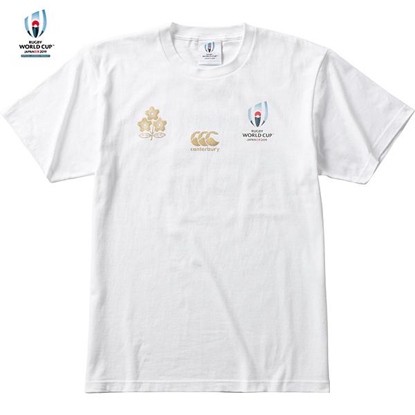 ラグビーワールドカップ2019(TM)日本大会 日本代表 メモリアルTシャツ VWT39455 ホワイト