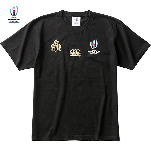 ラグビーワールドカップ2019(TM)日本大会 日本代表 メモリアルTシャツ VWT39455 ブラック