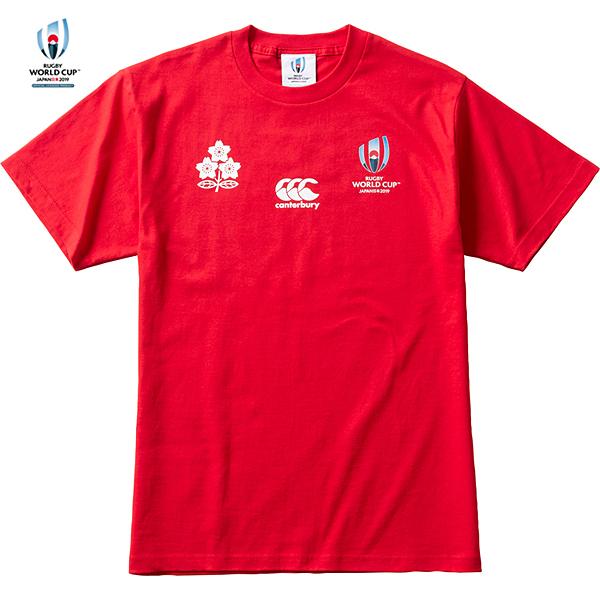 ラグビーワールドカップ2019(TM)日本大会 日本代表 メモリアルTシャツ レッド