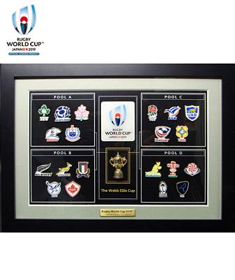 RWC2019 スペシャルピンズフレーム(20ヶ国エンブレム&ウェブエリスカップ)