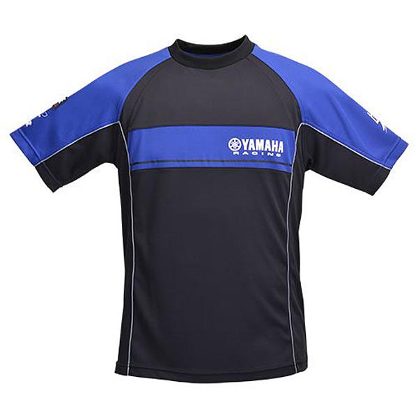 ヤマハレーシング YRE16レーシング Tシャツ ブルー×ブラック