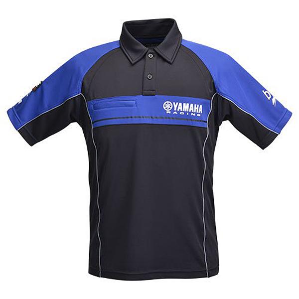 ヤマハレーシング YRE17レーシング ポロシャツ ブルー×ブラック