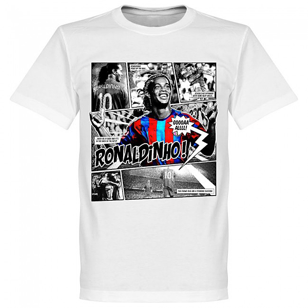 RE-TAKE Ronaldinho Comic Tシャツ ホワイト
