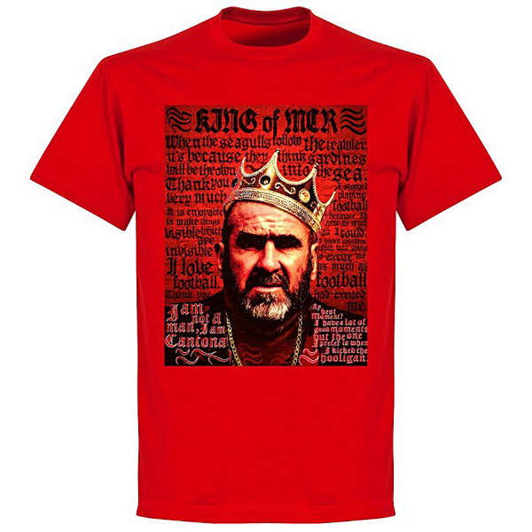RE-TAKE Cantona Old Skool Tシャツ レッド