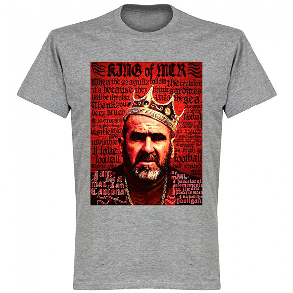 RE-TAKE Cantona Old Skool Tシャツ グレー