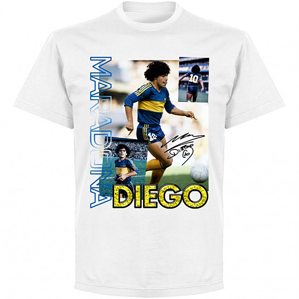 RE-TAKE Diego Maradona Old Skool Tシャツ ホワイト