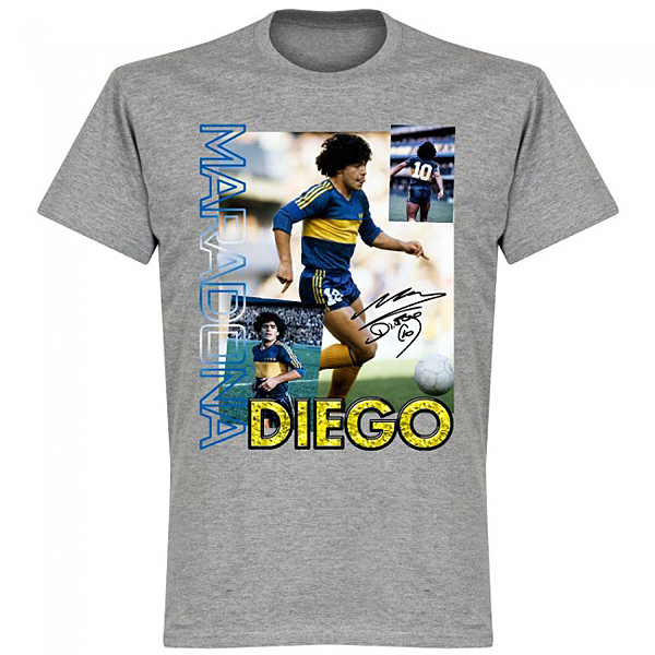 RE-TAKE Diego Maradona Old Skool Tシャツ グレー