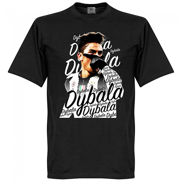 RE-TAKE Paulo Dybala Celebration Tシャツ ブラック