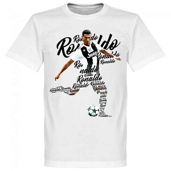 RE-TAKE Ronaldo Script Tシャツ ホワイト