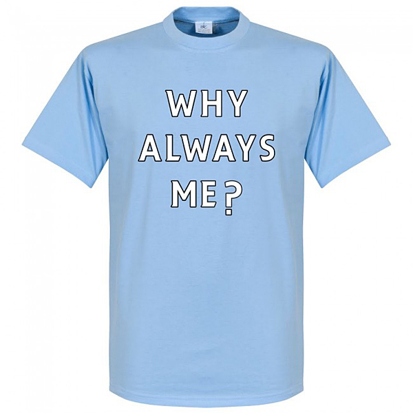 RE-TAKE Why Always Me? ManC Balotelli Tシャツ スカイ