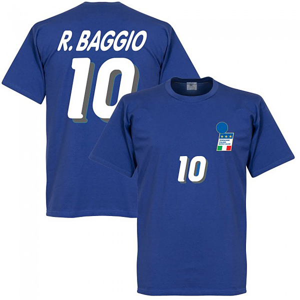 RE-TAKE R. Baggio 1994 Home Tシャツ ロイヤル