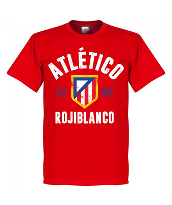 RE-TAKE Atletico Established Tシャツ レッド