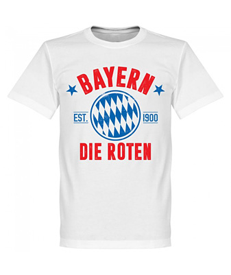 RE-TAKE Bayern Established Tシャツ ホワイト