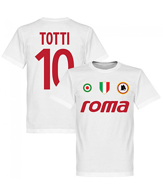 RE-TAKE Roma Vintage Totti 10 Team Tシャツ ホワイト