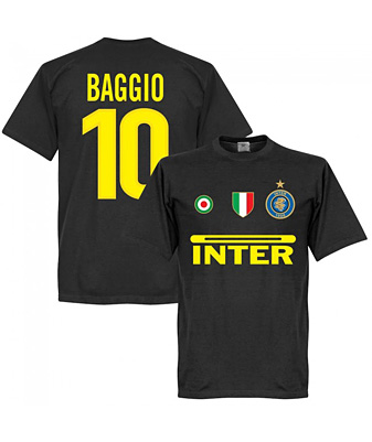 RE-TAKE Inter Baggio 10 Team Tシャツ ブラック