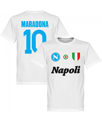 RE-TAKE Napoli Maradona 10 Team Tシャツ ホワイト