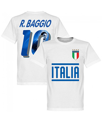 RE-TAKE Italy Baggio 10 Gallery Team Tシャツ ホワイト