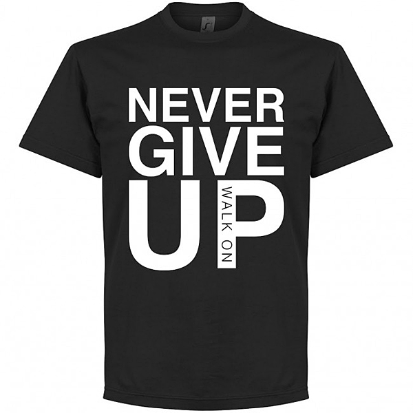 RE-TAKE Never Give Up Liverpool Tシャツ ブラック