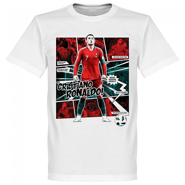 RE-TAKE Ronaldo Comic Tシャツ ホワイト