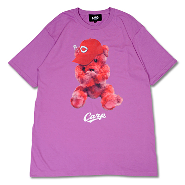 CARP×LAND by MILKBOY CARP BEAR Tシャツ ラベンダー