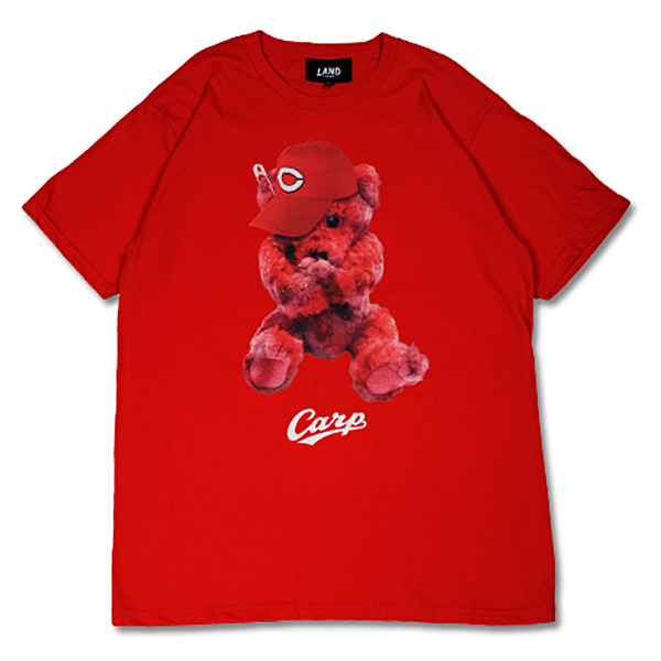 CARP×LAND by MILKBOY CARP BEAR Tシャツ レッド