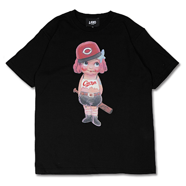 CARP×LAND by MILKBOY CARP GIRL Tシャツ ブラック