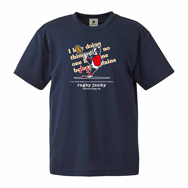 rugby junky Try語録+1 Tシャツ ネイビー