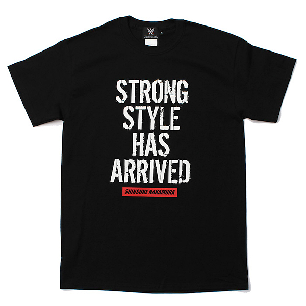 <日本限定> WWE 中邑真輔 【Strong Style Has Arrived】 Tシャツ2 ブラック
