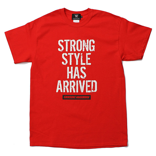 <日本限定> WWE 中邑真輔 【Strong Style Has Arrived】 Tシャツ2 レッド